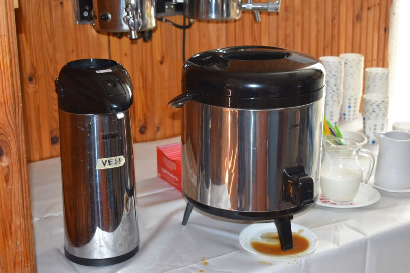 Coffee being served at a Mid-summer party