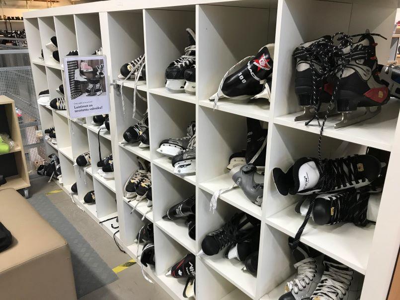 skates for sale at a Reuse Center